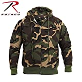 mens thermal zip hoodie - Rothco Thermal Lined Zipper Hoodie, Camo, Large