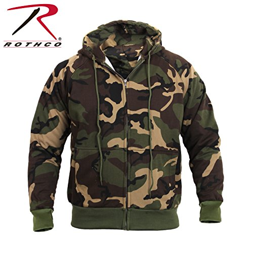 Rothco Thermal Lined Zip Hoodie, Camo, 3X-Large (2X, 3X)