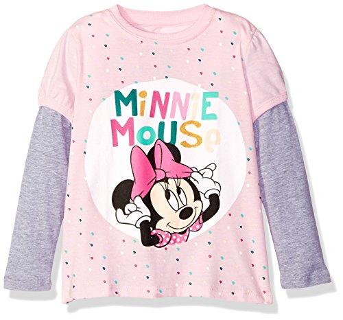 Disney Girls' Toddler Girls' Minnie Mouse L/s 2-Fer T-Shirt