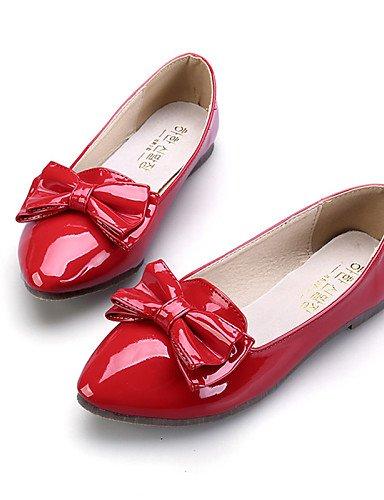 PDX/ Damenschuhe - Ballerinas - Kleid / Lässig - Kunstleder - Flacher Absatz - Komfort / Spitzschuh / Geschlossene Zehe -Schwarz / Rosa / Rot , red-us9 / eu40 / uk7 / cn41 , red-us9 / eu40 / uk7 / cn4