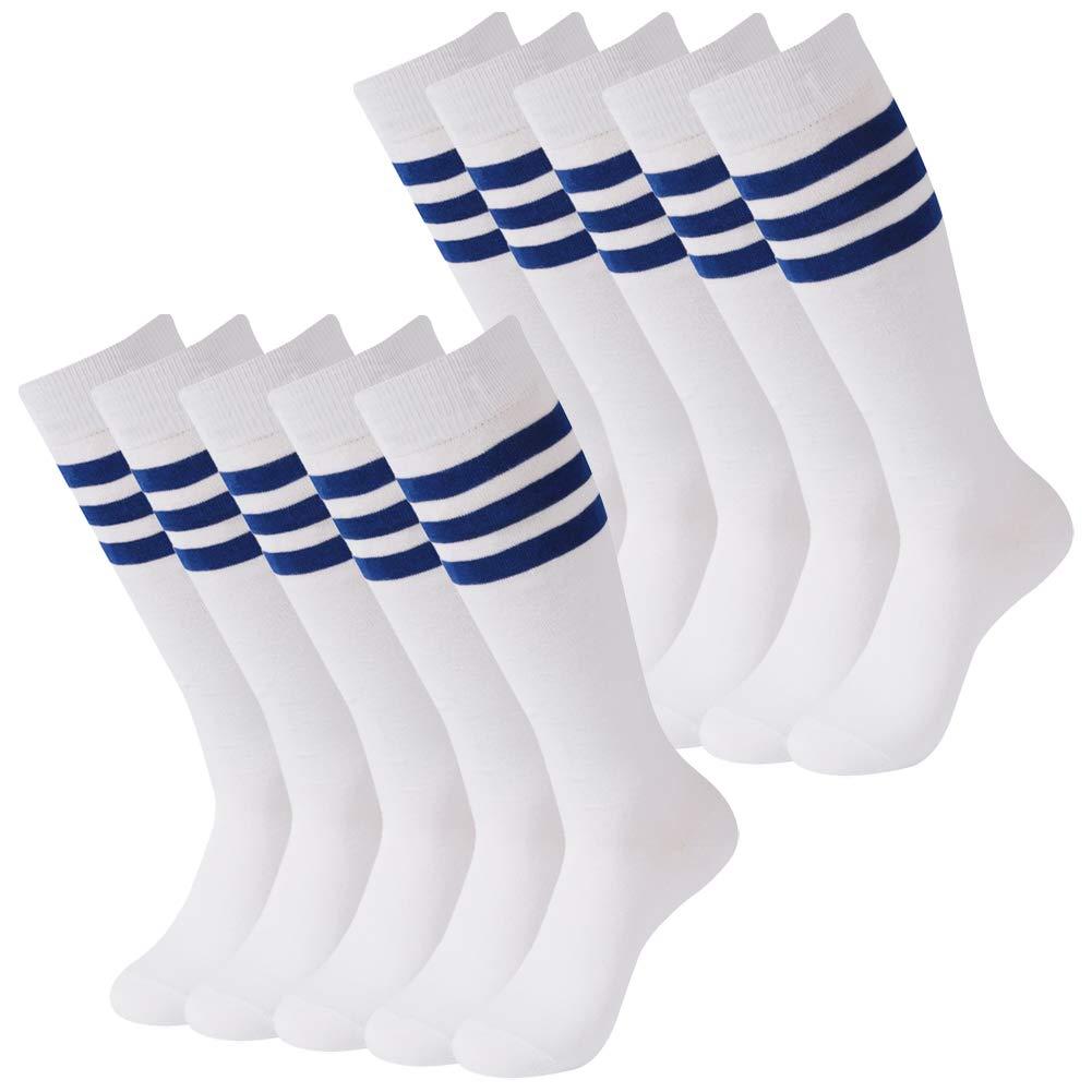 Mens Soccer Socks, SUTTOS Unisex Adults Over Knee High Team Soccer Socks Youth Girls Kids Youth Boys Soccer Socks School Group Socks Chearleading Team Socks Pack of 10 Back by SUTTOS