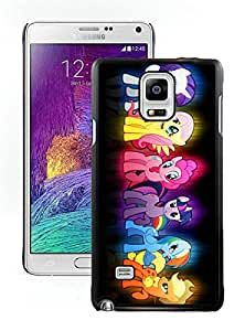Beautiful And Durable Designed Case For Samsung Galaxy Note 4 N910A N910T N910P N910V N910R4 With My Little Pony Black Phone Case