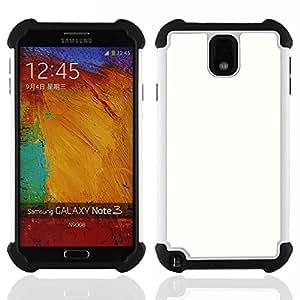 - white tabula rasa clean slate snow - - Doble capa caja de la armadura Defender FOR Samsung Galaxy Note3 N9000 N9008V N9009 RetroCandy