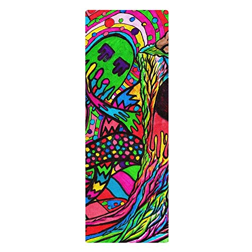 Shrooms Brain Skull Horrifying Yoga Mat Pilates and Fitness Unique for All Types of Yoga (Best Type Of Shrooms)