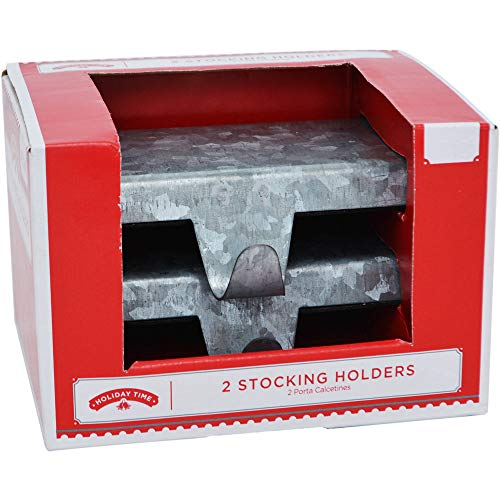 Holiday Time Stocking Holders (Holders Flat For Mantle Stocking)