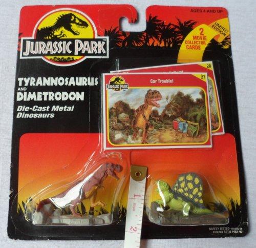 Tyrannosaurus Rex and a Dimetrodon From Jurassic Park - Diecast Jurassic Park
