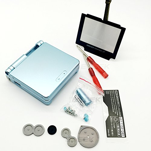 EXSEK Replacement Housing Shell Pack for Nintendo Gameboy Advance SP(Light Green)