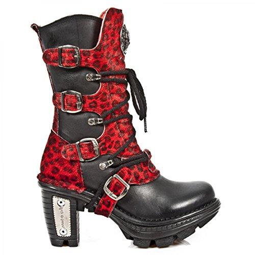 Nieuwe Rock Handgemaakte M Neotr005 C13 Schwarz Damen Stiefel