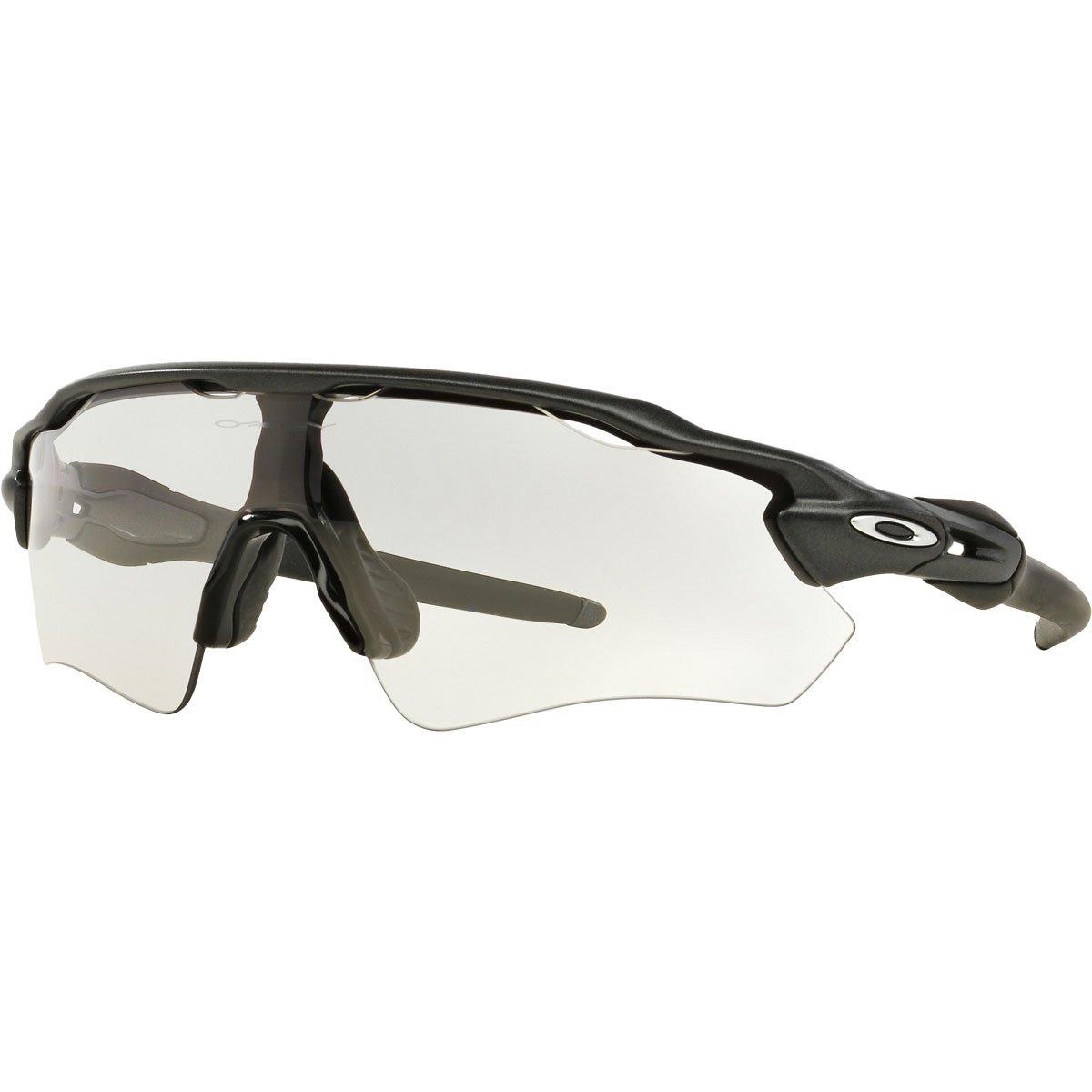 Oakley Men's Radar EV Path OO9208-13 Non-Polarized Iridium Shield Sunglasses, Steel, 138 mm