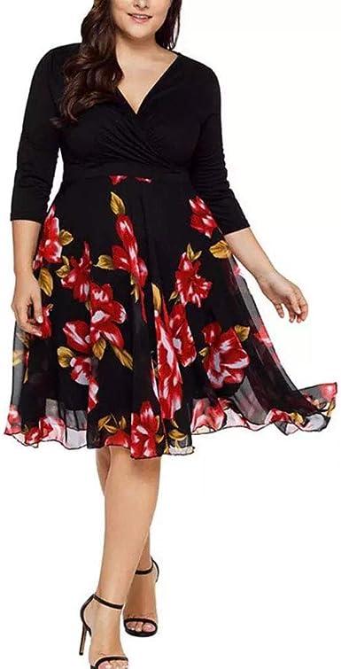 Amazon Com Vestidos Tallas Grandes Mas Tamano Cortos De Fiesta Para Gorditas Xl Elegantes Tallas Extras Moda Xxl Clothing