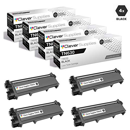 CS Compatible Toner Cartridge Replacement for Brother TN660 TN630 TN-660 TN-630 4 Black for DCP-L2520DW DCP-L2540DW HL-L2320D HL-L2340DW HL-L2360DW MFC-L2680W MFC-L2685DW MFC-L2700DW -  Clever Supplies, CS-TN630/TN660-4BK