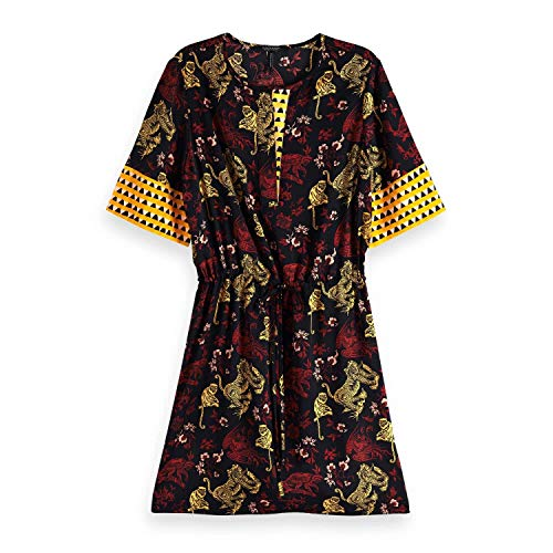 Mixed Waist amp; With Multicolor Print Mujer 17 A Scotch combo Drawcord Soda Para Dress Vestido xFqdYnwE