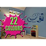 Lightning McQueen - Personalised with a name of your choice - Children's Wall Decal Sticker (Large)