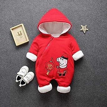 06f97aafc Amazon.com  Staionsa Newborn Rompers Winter Thick Warm Baby Girls ...