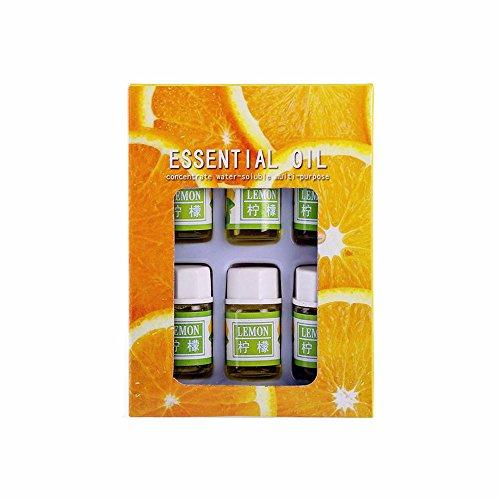 YunZyun Aromatherapy Essential Oil -100% Pure Natural Aromatic Plant Essential Aromatherapy Oils for Skin Care Bath Massage Beauty Oils Gift Set-6 Pack,3ML (G)