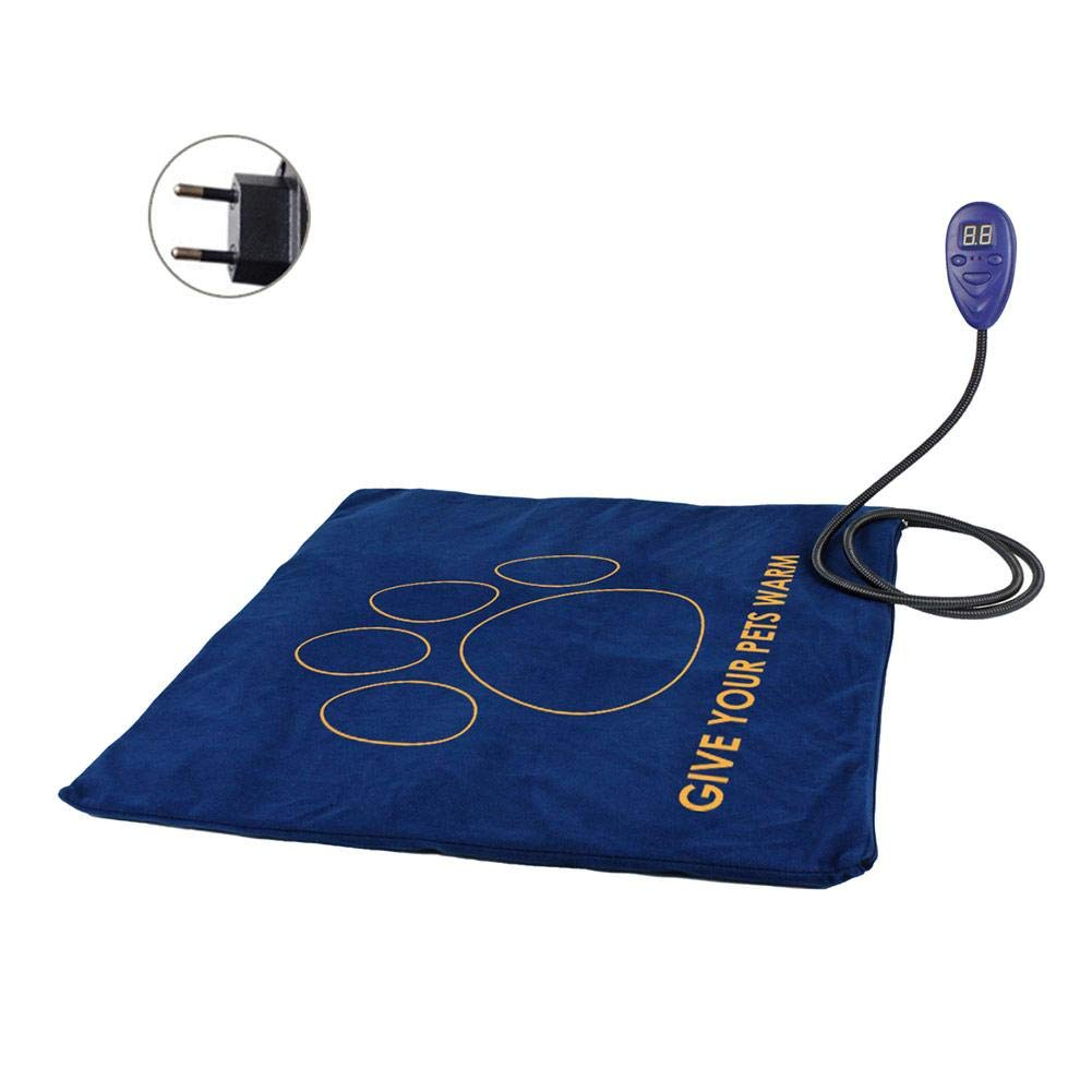 EU specification Pet Heating Pad Indoor Warm Bed 7 Level Adjustable Temperature Replaceable Cover Waterproof Layer Pet Mat for Dogs and Cats