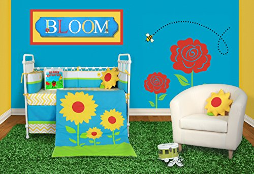 Snuggleberry-Baby-Sunflower-Love-6-Piece-Crib-Bedding-Set-with-Storybook