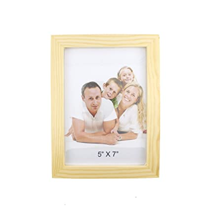 Buy Classic Rectangular Wood Picture Frame (Wood Color, 5x7) by ...