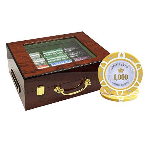 MRC Poker 500枚入りMonte B01D7SSTL8 Carlo Poker Room Poker Carlo Chipsセットwithカスタマイズ木製ケースカスタム構築 B01D7SSTL8, ブランドショップ ラッシュモール:a3165014 --- itxassou.fr