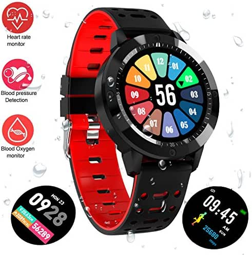 Fitness Tracker Watch, Upgraded Swim Water-Resistant HD Color Screen Smart Bracelet, HR/Blood Oxygen/Pressure/Calorie/Sleep Monitor Pedometer Activity Tracker for Android/iOS(1.3