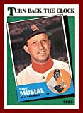 1988 Topps #665 Stan Musial RIP ST. LOUIS CARDINALS 1963 TURN BACK THE CLOCK