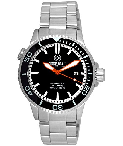 Dial Orange Automatic Divers (Deep Blue MASTER 1000 DIVER 44mm Automatic watch Black bezel & dial Orange hands)