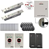 Visionis FPC-6156 Two Door Access Control Electric Drop Bolt Fail Secure Time Attendance TCP / IP RS485 Wiegand Controller Box With Power Supply Included Black Outdoor Waterproof Card Reader Computer