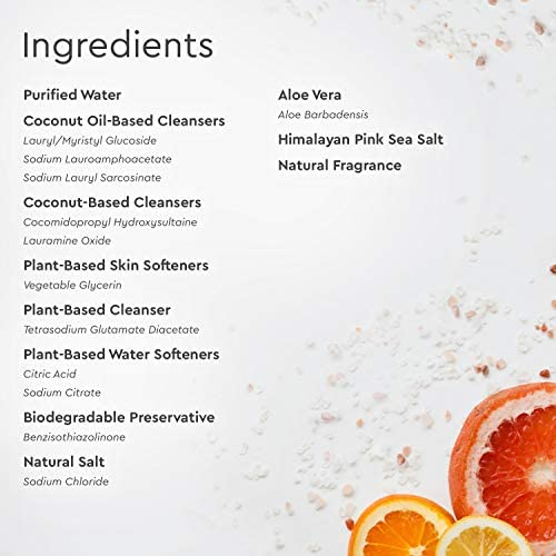Puracy Jabón natural para platos, sal de mar y cítricos ...