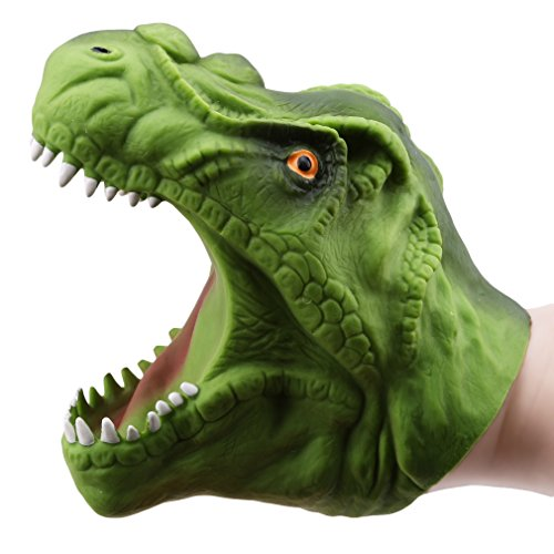 HKUN おもちゃ 子供 恐竜ハンドパペット チラノサウルスレックス 動物ごっこ遊び 手踊り 人形劇 知育玩具 小道具