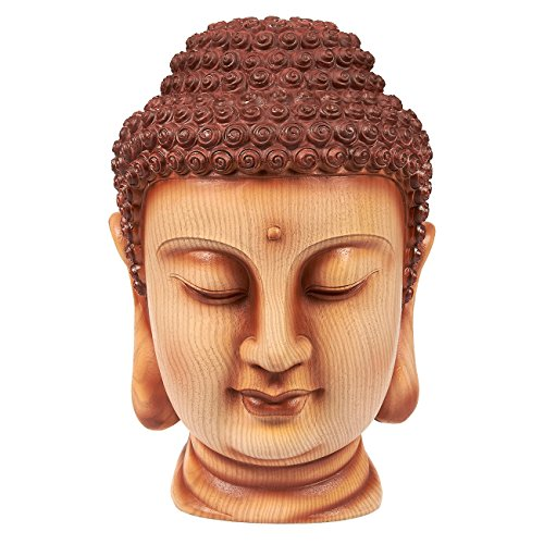 Juvale Buddha Head Statue - Garden Zen Outdoor Buddha Statue, Resin Buddha Bust for Garden, Yard, Interior Decoration, Brown - 6 x 11.5 x 7 Inches by Juvale