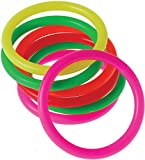 US Toy Neon Mini Carnival Game Rings Toys (12 Pack), Assorted Colors