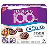 Nabisco 100 Cal Oreo Thin Crisps Chocolate Snacks, 6 Count Box, 4.86 Ounce
