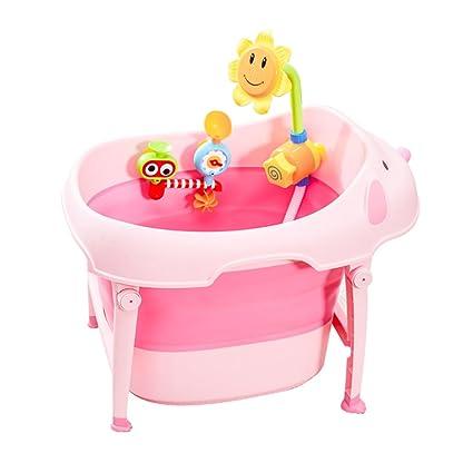 Cubo de baño Plegable para niños bañera de bebé recién Nacido bañera ...