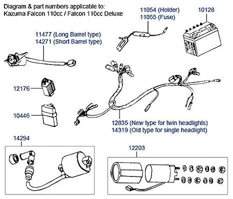 kazuma atv wiring diagram problems wiring diagramsamazon com petrolscooter  starter relay solenoid kazuma baotian sunl atv
