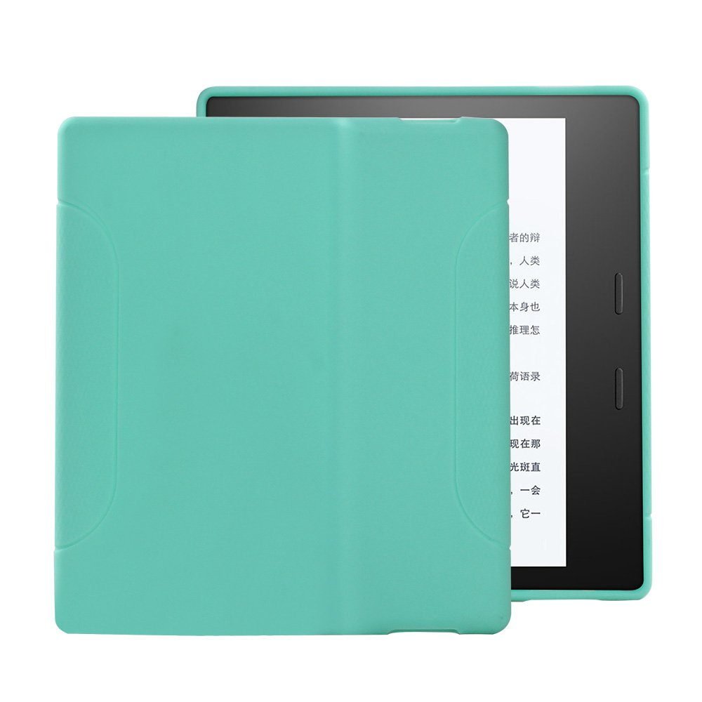 "Young me Kindle Oasis Case (9th Generation, 2017 Release) - Slim Fit TPU Gel Protective Cover Case for All-New Kindle Oasis E-reader 7"" (Green)"