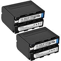 Abaige 9000mAh Power Replacement Batteries (2-Pack) for Sony NP-F975, NP-F970, NP-F960, NP-F950, Sony DCM-M1 MVC-CD1000 HDR-FX1 DCR-VX2100E DSR-PD190P NEX-FS700RH HXR-NX3