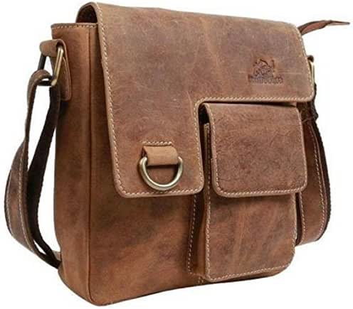 TUZECH Pure Modern Styled Leather Faded Handy Messenger Bag