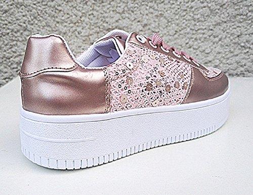 Deporte Sintético Material De Fashionfolie Mujer Zapatillas wIqEff