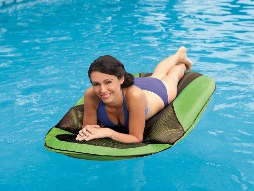 SwimWays Spring Float SunDry Lounger Green