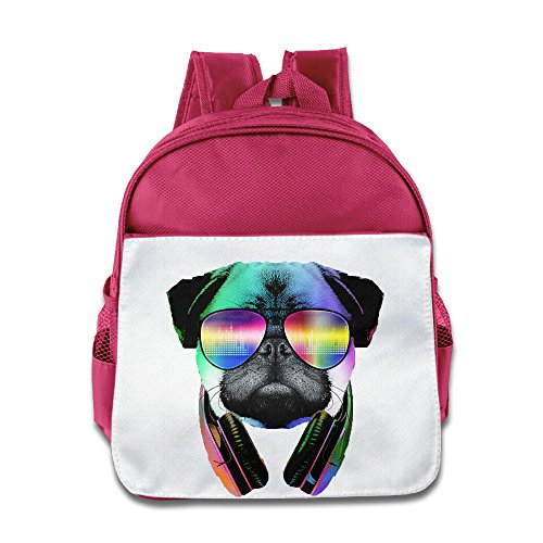 Cool Pug With Headphone Kids School Backpack - Lovato Demi Sunglasses