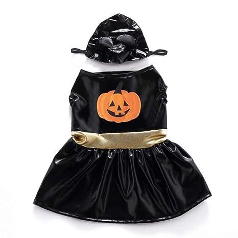 WINNER POP Falda de Cuero de Calabaza para Mascotas de Halloween ...