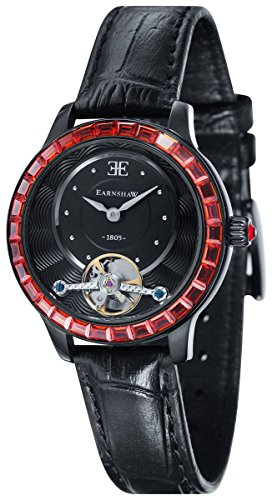 Thomas Earnshaw Womens The Lady Australis Watch - Black/Red