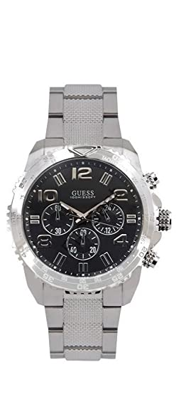 Guess W0598G2 Black Dial Stainless Steel Mens Watch
