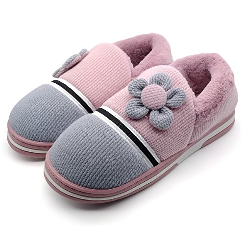 Paangkei Women's Or Big Girl's Indoor Slippers Comfort Anti-Slip House Shoes (EU39-40:Women8-9 & Big Kid7-8, 1168 Purple) ()