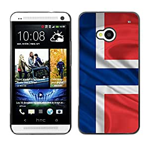 - Norwegian Norway flag - - Fashion Dream Catcher Design Hard Plastic Protective Case Cover FOR HTC One M7 Retro Candy