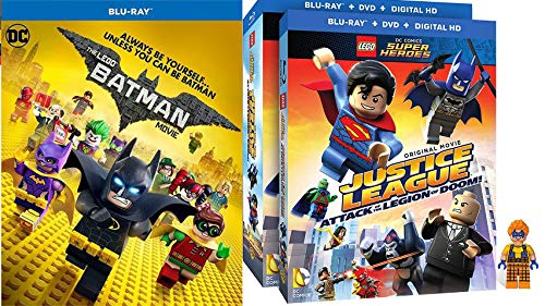 Block Gotham LEGO Character Trickster Pack Batman Movie DC Blu Ray + Justice League: Attack of the Legion of Doom! w/ Figurine Special Edition Super Heroes Unite Double Feature 2 Pack (Lego Wreck It Ralph)