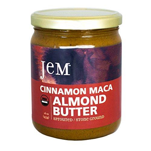 JEM - USDA Certified Organic Cinnamon, Maca, Almond Butter Spread, Vegan, NON-GMO, 16 - Store Jem