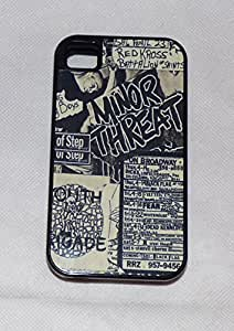 iphone covers MINOR THREAT Punk Rock Iphone 5c BLACK RUBBER PROTECTIVE CASE