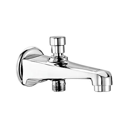Cera Platinum F1001662 Brass Single Lever Bath Tub Spout (Silver)