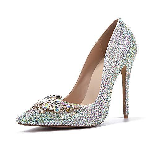 Mariage Bal Boucle Soirée De Silver De HGDR Papillon De De Robe Bout d'honneur Diamant Demoiselle Mariée Talons Escarpins Pointu De Chaussures À Femmes qRwRTI6Z